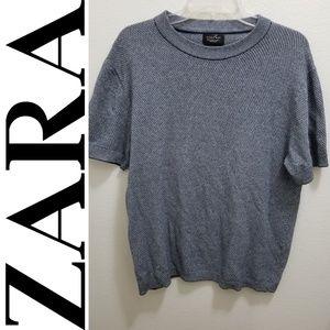 ZARA Gray Short-Sleeve Top